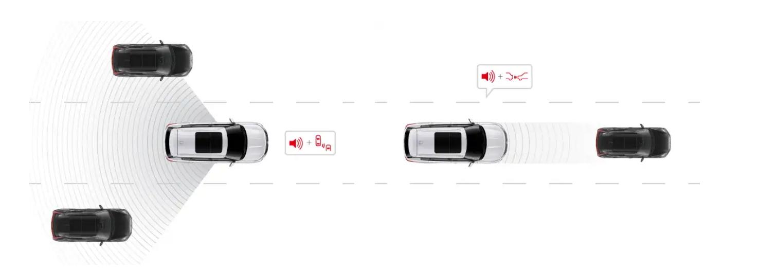 Cảnh báo và giảm thiểu va chạm phía trước trên xe Outlander 2022