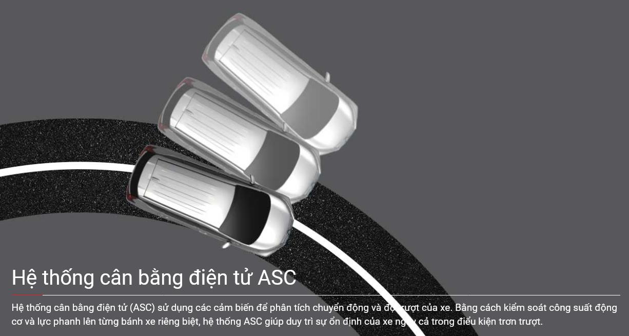 Hệ thống cân bằng điện tử ASC trên xe Xpander