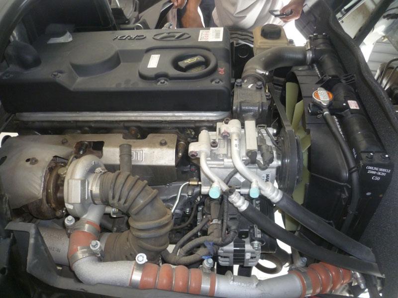Động cơ D4DD lắp trên xe tải HD99S
