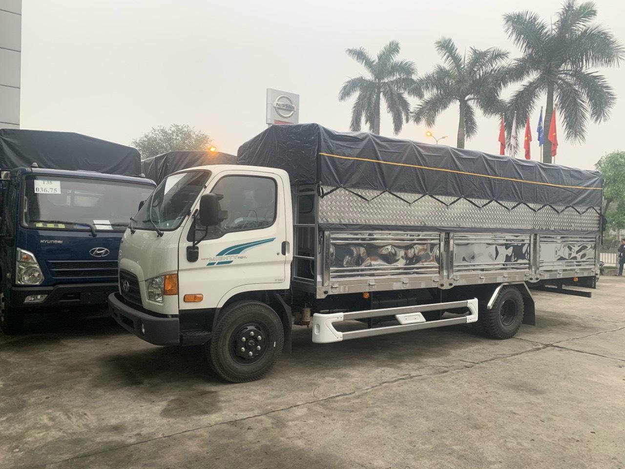 Xe tải Mighy 110SL thùng bạt trắng,