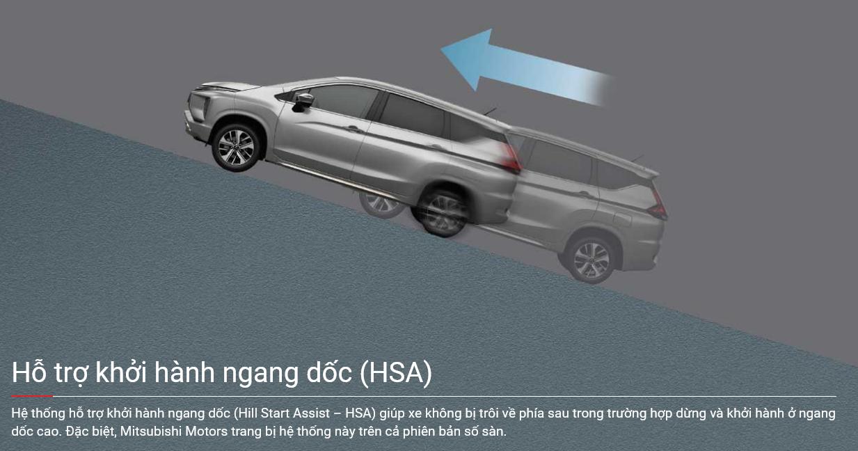 Hệ thống khởi hành ngang dốc HSA trên xe Xpander 2022
