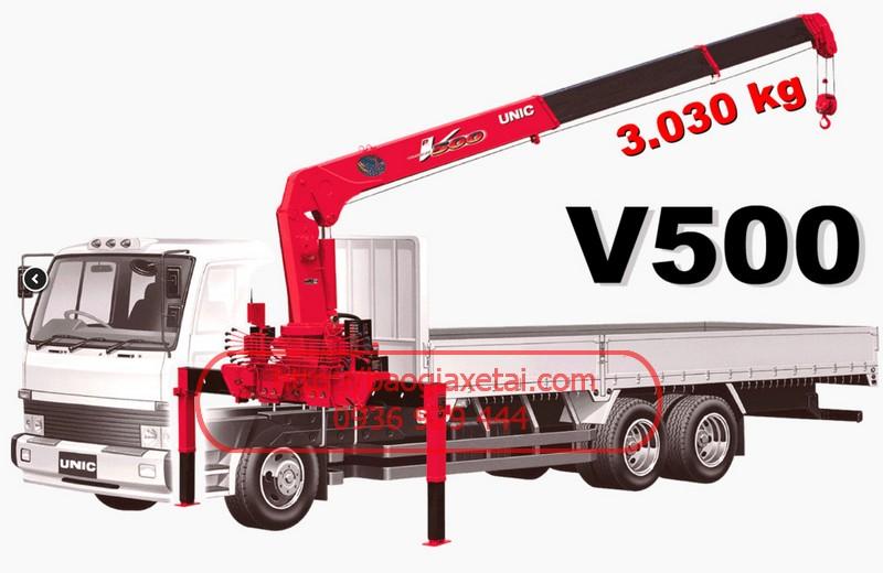 xe tải gắn cẩu unic v505-hino FC10T4